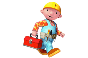 Old Bob the Builder on His Way transparent PNG - StickPNG