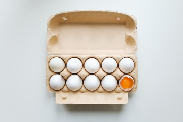 A crate of eggs which is a great source of calcium is good to prevent kidney stones